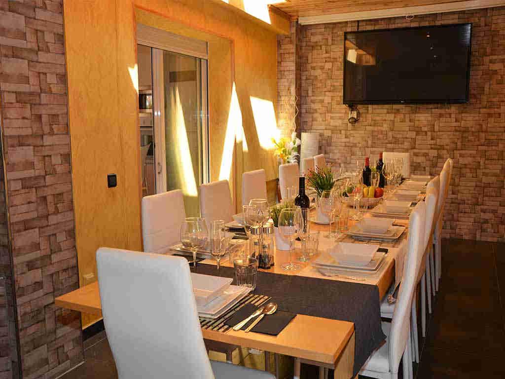 Casa de vacaciones en Sitges y su comedor interior