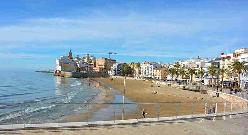 San Sebastian Sitges beach