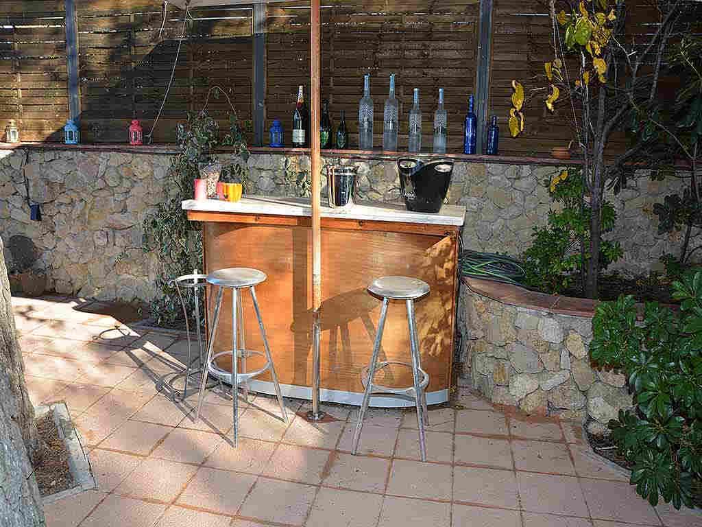 Villa de vacances à Sitges: bar extérieur