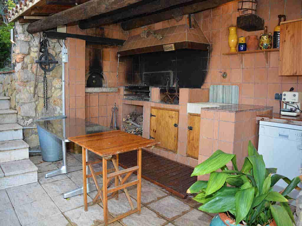 Villa de vacances à Sitges: cuisine à l'air libre