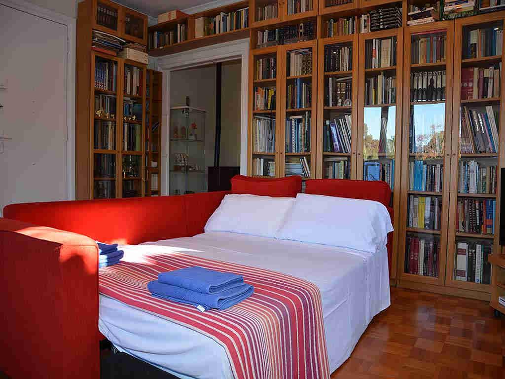 Villa de vacances à Sitges: chambre bibliothèque