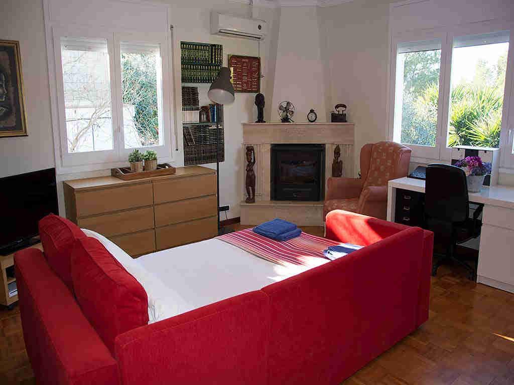 Villa de vacances à Sitges: lit double
