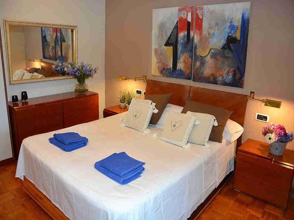 Villa de vacances à Sitges: chambre avec lit double