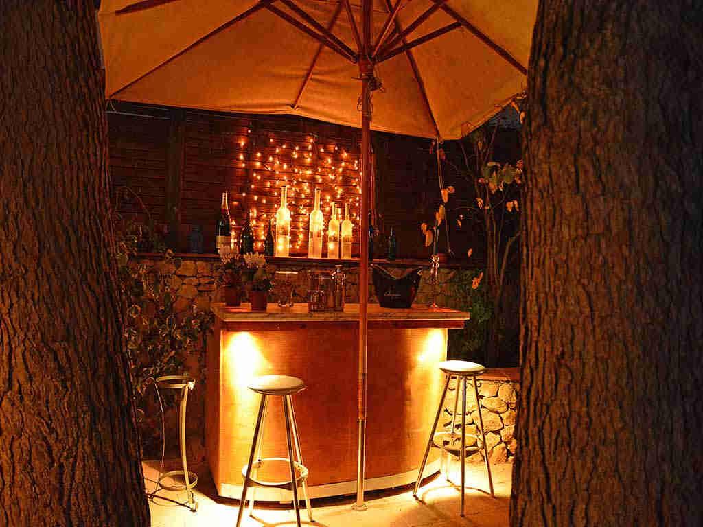 Villa de vacances à Sitges: bar illuminé