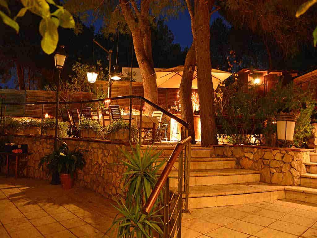 Villa de vacances à Sitges: zones extérieures illuminées