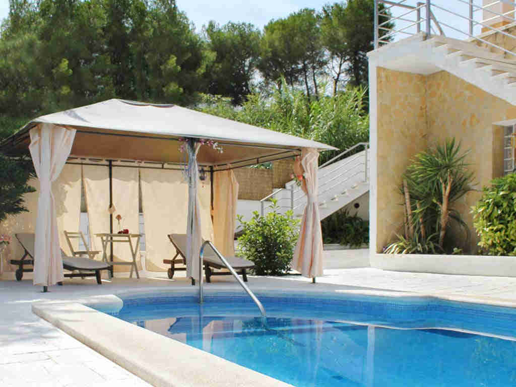 casa de vacaciones cerca de Sitges: hamacas