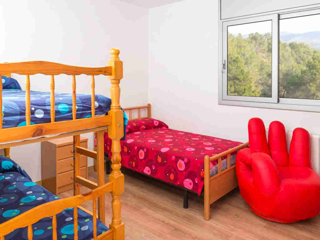 casa de vacaciones cerca de Sitges: tres camas individuales