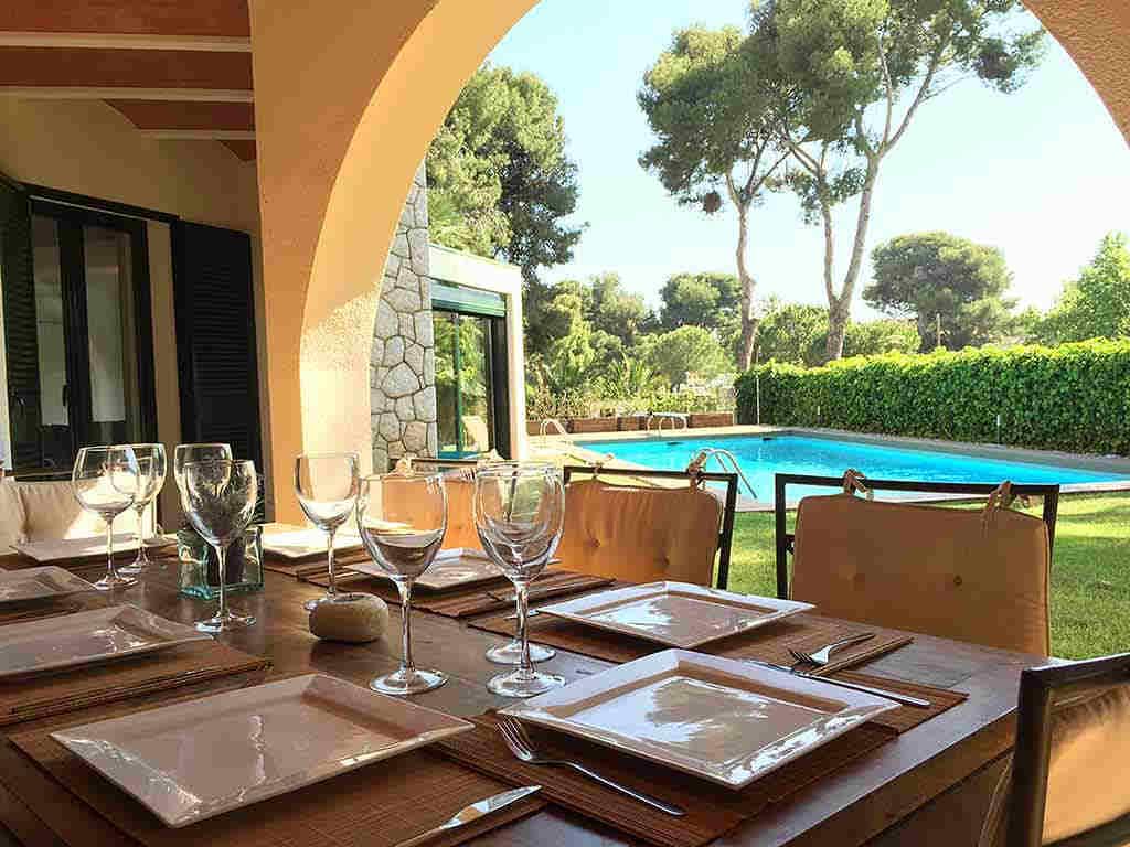 Villa de vacances à Sitges proche de Barcelone: terrasse jardin