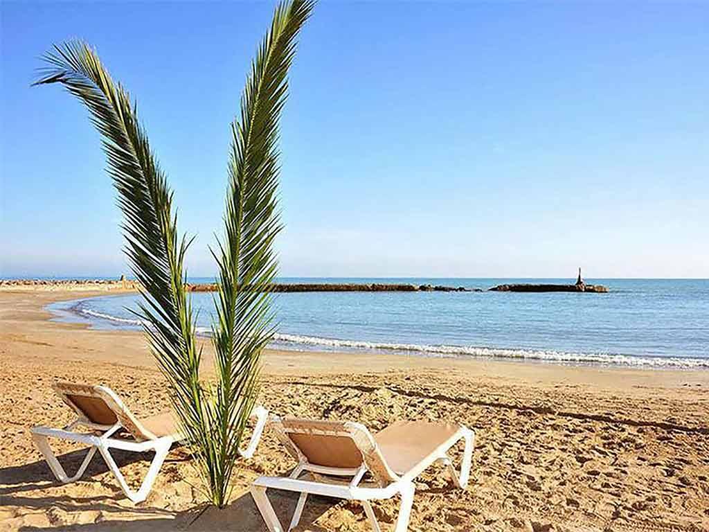Sitges holiday villa near Barcelona: beach