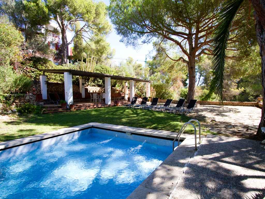 Casa en sitges cerca de barcelona: piscina