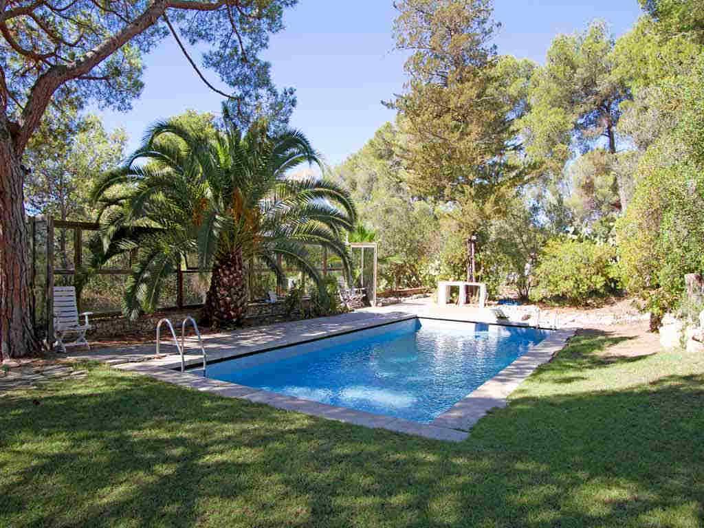 Holiday Sitges villa near Barcelona: garden