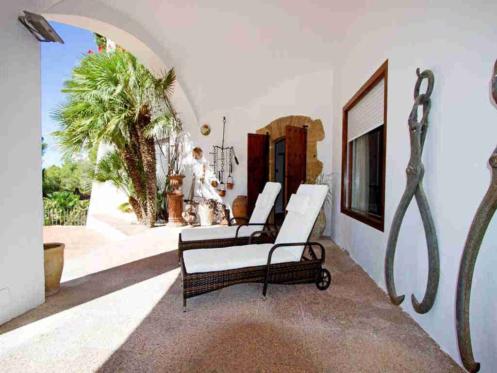 Villa de vacances à Sitges proche de Barcelone: chaises longues