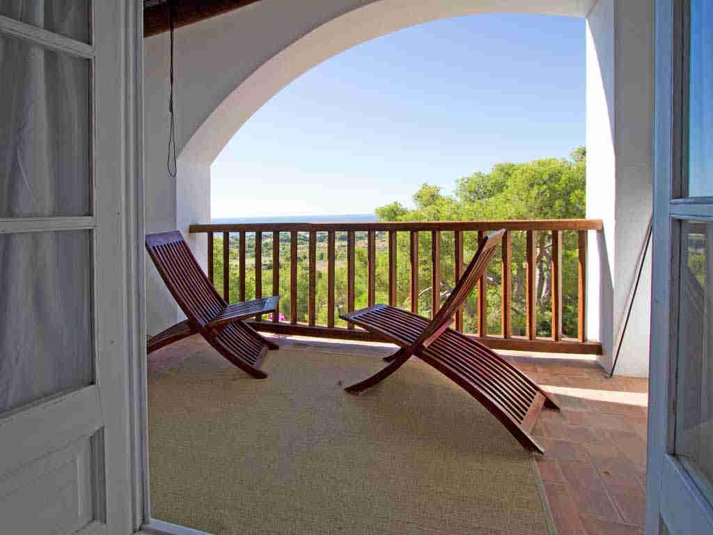Casa en sitges cerca de barcelona: terraza suite
