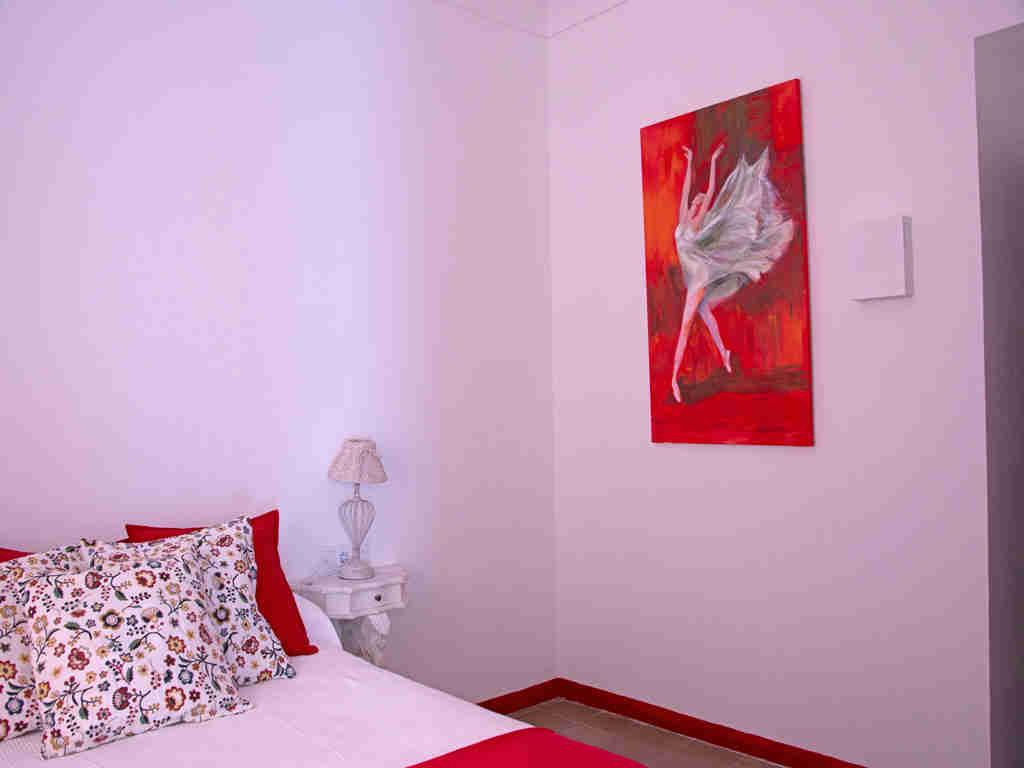 Villa de vacances à Sitges proche de Barcelone: chambre rouge