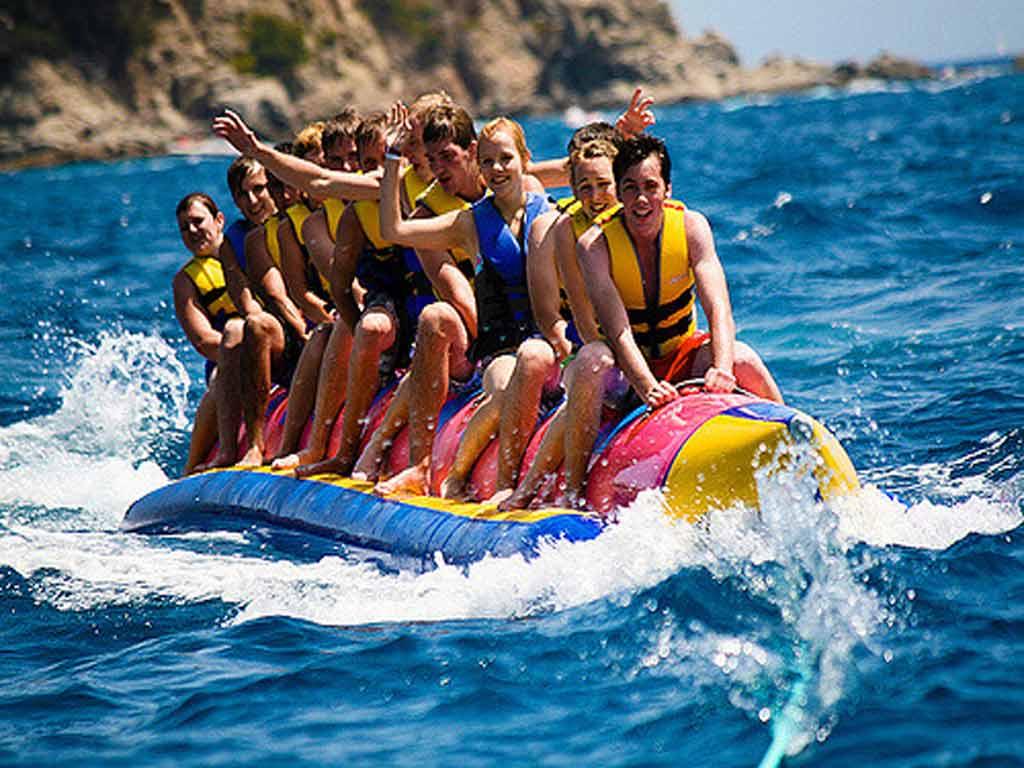 aquatic sports in Sitges.