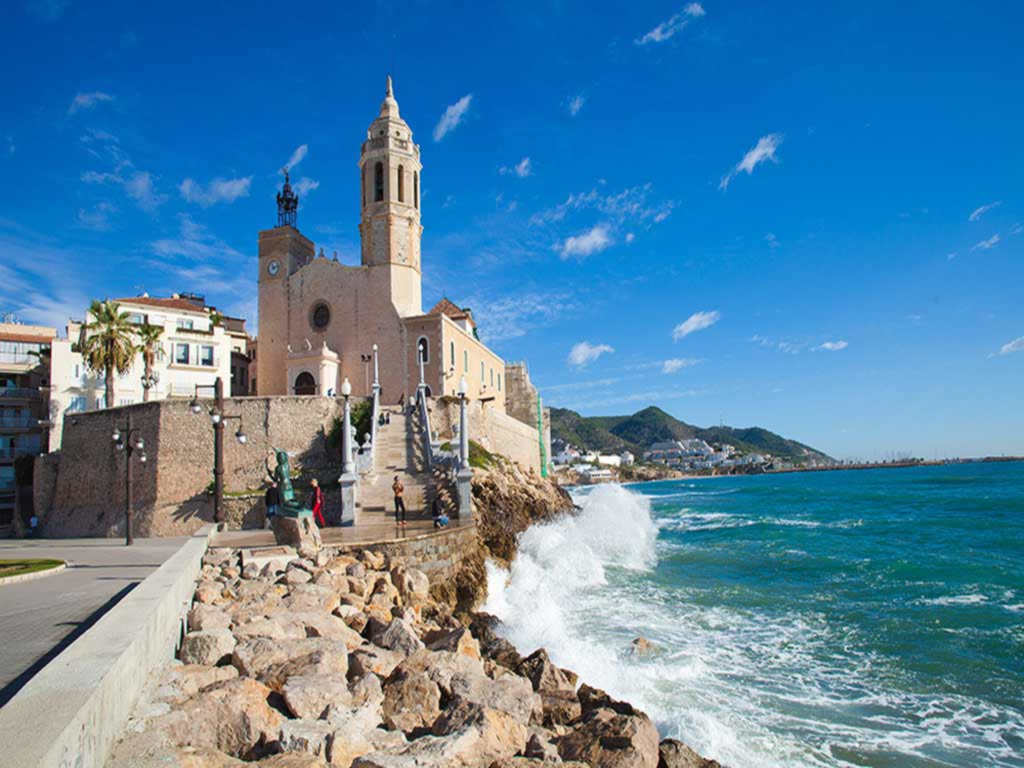 summer holidays in Sitges.