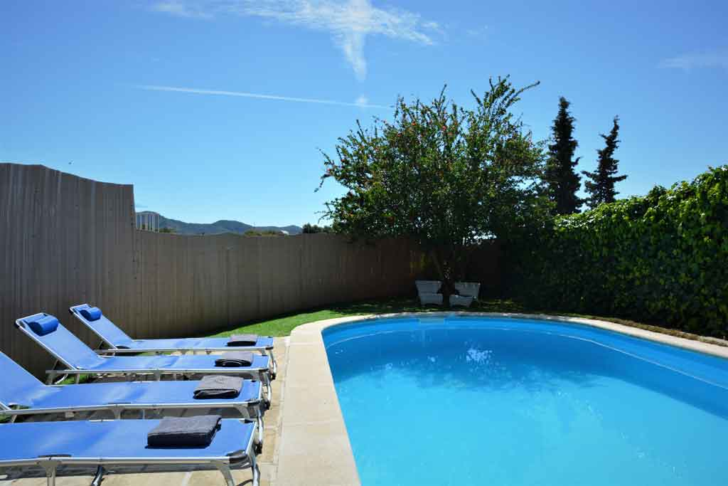 Location de villa à sitges: Piscine