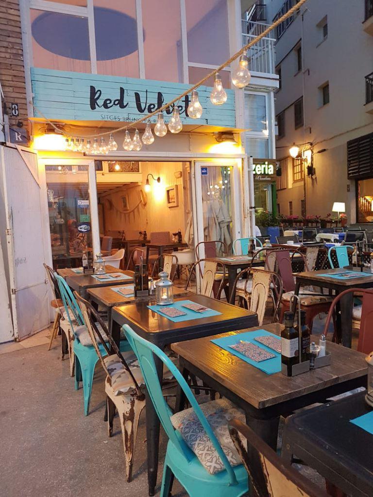 Vegetarian Restaurants in Sitges: Red Velvet