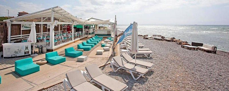 Beach Club of Sitges near the Golf