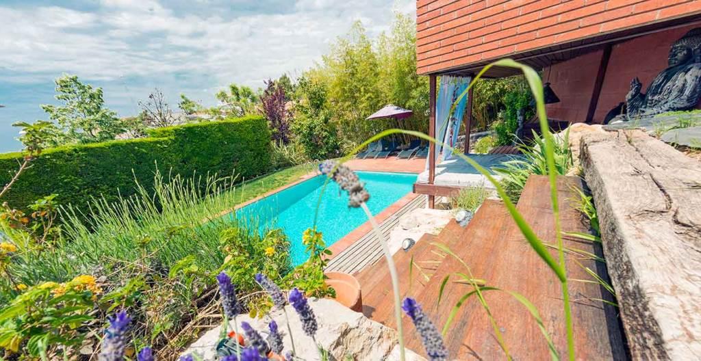 Villa Sitges Mariposa espacios exteriores