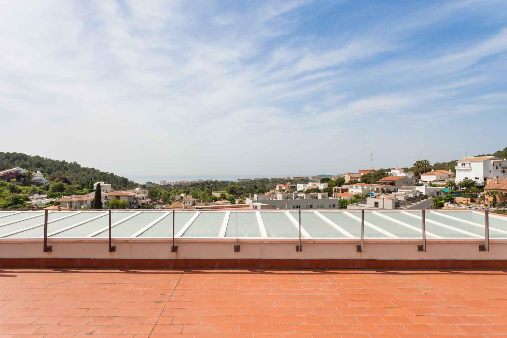 Villa Sitges Mariposa rooftop terrace